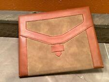National 73 410 Leather Executive Writing Pad Folio Portfolio Organizer Folder