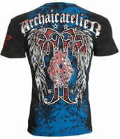 Archaic AFFLICTION Men T-Shirt BUNDLE Wings Tattoo Fight Biker MMA M-4XL $40