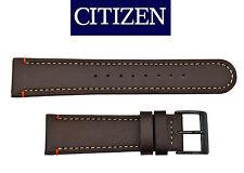 Genuine Citizen  BROWN Leather watch band Strap 22mm BM6995-19E