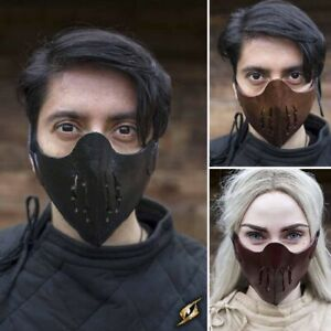 Leather Mempo Half Face Mask in 3 Colours. Ideal Stage, Costume & Re-enactment
