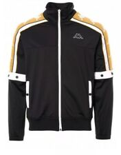KAPPA Arany Banda 10 Jacket - Black & Gold Size Large New
