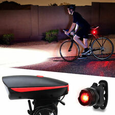 Super Bright Led Bike Bicycle Light USB Rechargeable Headlight &Taillight Set