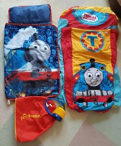 My First Thomas the Tank Ready Bed Inflatable plus Roll Up Travel Sleeping Bag