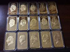Hamilton Mint (43) 1 oz Pure Presidential Silver Ingots Bars