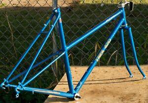 "Mixte Bicycle Trek 420 Frameset Blue Touring Commuter 700C 21"" 1980s Frame Fork"
