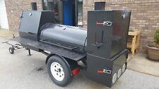 Night HOG Mini HogZilla Mobile BBQ 24 Grill 4 Barrel Smoker Trailer Food Truck