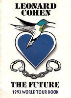 LEONARD COHEN 1993 THE FUTURE WORLD TOUR CONCERT PROGRAM BOOK BOOKLET / EX 2 NMT
