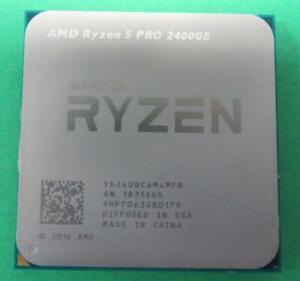 AMD Ryzen 5 Pro 2400GE 3.2GHz 4 Core 8 Threads DDR4 35W Socket AM4 CPU Processor