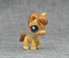 Littlest Pet Shop #684 Tan Horse Pony With Purple Snowflake Eyes