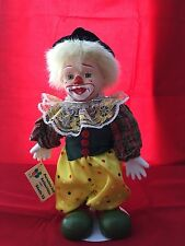"""Studio 33 Vintage Collectible Clown Porcelain Doll 12"""" Tall"""