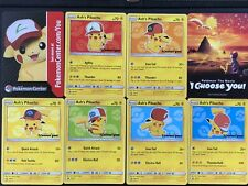 Gamestop Exclusive Pikachu I Choose You Movie Set Of 8 Promo Cards New Ash's Hat