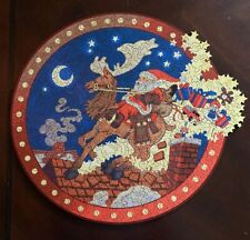 New ListingLiberty Wooden Jigsaw Puzzle - Up on the House Top - Made in Usa