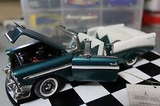 Franklin Mint 1:24 Scale 1956 CHEVROLET BEL AIR (AQUA) - LOOSE