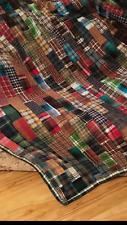 New listing Plaid Flannel Quilt Kit 72�x84� Pre Cut Cotton Flannel Pieces w/Directions New