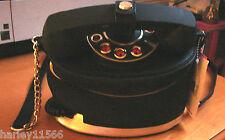 BETSEY JOHNSON BLACK TELEPHONE HANDBAG BJ50070 NWT SUPER RARE!!! SOLD OUT!!!!