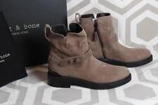 NIB Rag & Bone Ashford Leather Moto Boots 39.5 $595 Stone