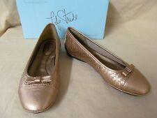 Women's LifeStride 9 M Champagne (Gold) Alannis Woven Ballet Flats SlipOn Shoes