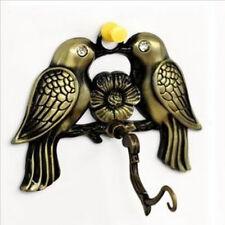 Metal Lucky Birds Pattern WindChime Hanger Bell Charm Hook Garden Wall Decor