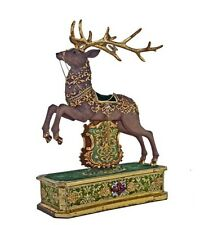 Katherine's Collection Regimental Reindeer Mantle Christmas Display New