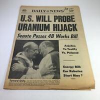 NY Daily News: 4/30/77 US Will Probe Uranium Hijack; Pope Paul & Donald Coggan