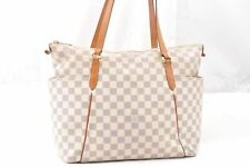 Authentic Louis Vuitton Damier Azur Totally MM Tote Bag N51206 LV 54582