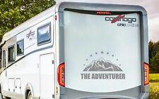RV MOTORHOME CAMPER CARAVAN, THE ADVENTURER, VINYL GRAPHICS STICKERS DECAL