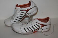 Michelle K Sport Casual Shoes, #32024, Wht/Org, Leather, Women's US Size 8.5