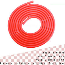 Red 3 Meters Air Silicone Tube Hose Pipe High Temp Vacuum Engine Dress up 4MM
