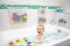 2x Mesh Bath Toy Organizer + 6 Ultra Strong Hooks The Perfect Bathtub Toy Holder