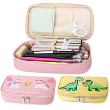 MoKo Pen Pencil Case, Students Stationery Cute Print Pencil Holder for School