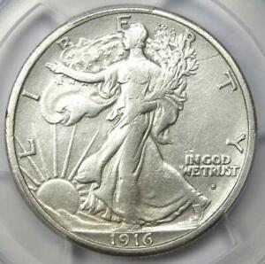 1916-S Walking Liberty Half Dollar 50C - Certified PCGS VF Details - Looks XF!