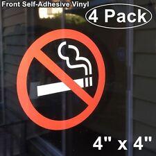 4 Window Wall NO SMOKING Stop Smoke cigarette Warning Clear Vinyl Sticker Decal