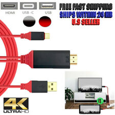 For Samsung Galaxy S8 S9+ Note 9 S10e Plus 4K Type C To HDMI AV TV Cable Adapter