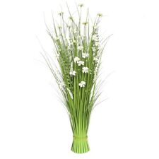 Bunch of white Flowers and grass Large Decorative Artificial Plants 100cm