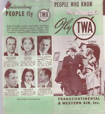 "TWA ""THE LINDBERG LINE"" PEOPLE WHO  KNOW BROCHURE-1940'S?"
