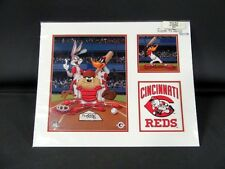 """Looney Tunes """"At the Plate"""" Limited Edition Litho, 370/1000 COA MLB REDS"""