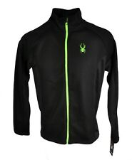Men's Spyder Outbound Full Zip Core Mid Weight Sweater Jacket Ski Black Size L