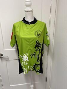 Road Cycling Jersey Shirt Men's Front Full Zipper Size 3XL XXXL EUC