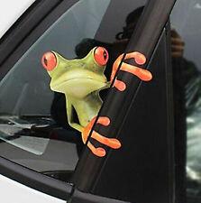 3D Grenouille Drôle Autocollant Voiture Camion Fenêtre Autocollant Graphique