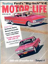 Motor Life Magazine March 1961 Tempest 4 Sunbeam Alpine EX NO ML 121415jhe