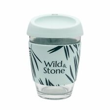 Wild & Stone   Reusable Coffee Cup   100% Leak Proof   Glass Coffee Cup