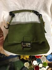FENDI BAG Green Mamma Forever vit SAVANA Authentic laminated leather with card