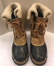 Seaway Mark Ten Hunting Duck Boots Leather Rubber Brown Wool Lined Men 9 Korea