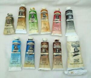 Winsor & Newton Winton Oil Colour Paint tubes bundle / lot Vintage