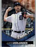 Justin Verlander 2018 Topps Series 2 INSTANT IMPACT Blue Parallel #II-33 Tigers