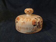 cloche cave a fromage en ceramique decor fleur vintage ancien