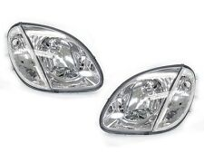 DEPO 98-04 Mercedes Benz R170 SLK Class Euro Chrome Headlights with Corner Light