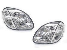 DEPO 98-04 Mercedes Benz R170 SLK Class Euro Chrome Headlights with Corner Light