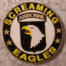 Car Grill Badge Military 101st Airborne NEW metal including mounting hardware
