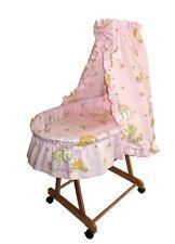 Baby Stubenwagen Babykorb Bettwäsche EU-Produkt Neu Sternwolke Rosa